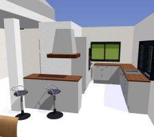 Projet de la cuisine en 3d