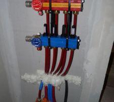 Collecteurs chauffage au sol hydraulique