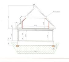 Plan de coupe de la maison