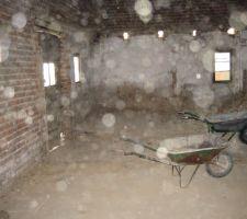 Démolition des espaces intérieurs (un peu de poussière ambiante !!)