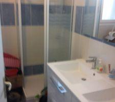 La double vasque et la douche