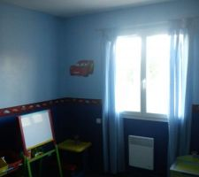 La chambre du garçon, ambiance Cars