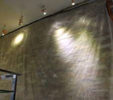 Eclairage led mur en pierre