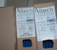 Tubes en polyéthylène ALTECH pour plancher chauffant