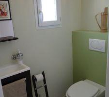 decoration des toilettes quasiment terminee nous pensons mettre un tableau sur le mur au dessus du wc il n y a plus qu a le trouver