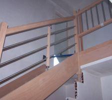 l escalier avant la vitrification