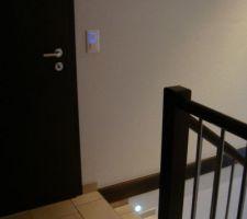 escalier et les spots