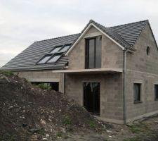 vue de la facade sud avec les 4 velux quattro