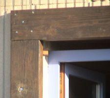 detail du cadre bois