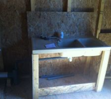 évier et WC de l'abri