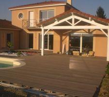 vichy maison contemporaine terrasse composite en cours