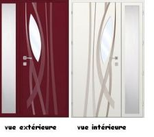 Porte d'entrée marque K-line gamme émotion - Amande