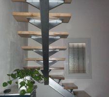 escalier quart tournant gauche