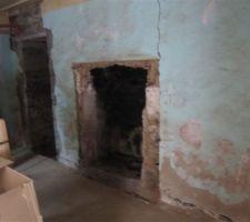 La cheminée telle qu'elle etait