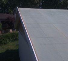 Planche de rive, plancher en CTBH avant pose du shingles