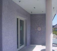 Motif soleil terrasse
