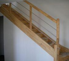 escalier en hevea