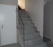 Rambarde d'escalier en alu brossé (Kirner Treppen )