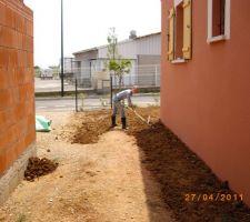 livraison et mise en place terre vegetale