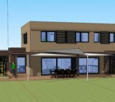 maison toit plat en alsace