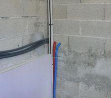Direction le garage pour le chauffe eau solaire