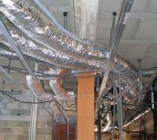 Gaine et module chauffage rez de chaussée