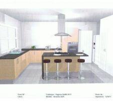 vue en 3D de la cuisine