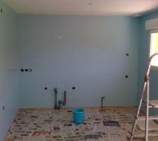 La cuisine bleu turquoise
