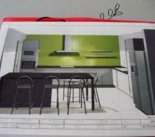 Futur projet cuisine (cuisinella)... Elle sera normalement gris quartz et plan de travail noir mais le choix n'est pas encore definitif. La couleur du mur ne correspond pas...
