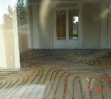 Chauffage au sol couplé avec la pac air /eau