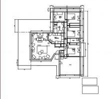 Plan maison en T