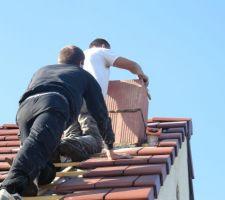 La sortie sur le toit