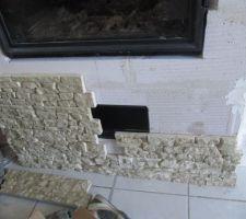 Mise en plaque des briques de parrement de marque parMur module beige
