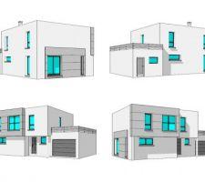 Vision 3D de la maison