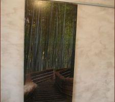 porte coulissante de notre chambre vers salle eau et dressing