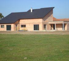 Vue terrasse arrière maison au 23/10/2011