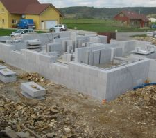 elevation murs du rdc en bloc euromac2