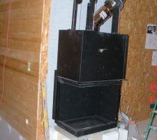 Installation de la cheminée