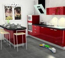 voici le modèle de cuisine que nous allons commander chez Armony