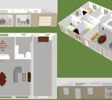 Vue d'ensemble realisée avec sweet home 3D