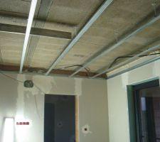 Rails faux plafond cuisine