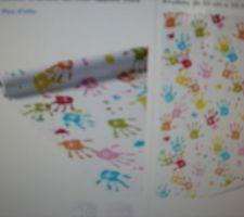 futur papier dans la chambres des enfant je suis assmat mais il y aura juste un pan de mur le reste sera en peinture