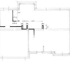 Modification du plan intérieur pour la cuisine