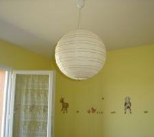 Chambre du bébé - enfin un luminaire !