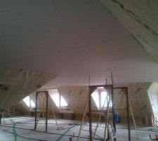 Faux plafond placo