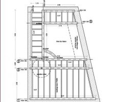 Plan de la structure du plancher R 2.