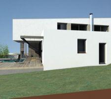 APRES : nouveau profil de la maison avec son toit monopente