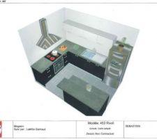 Plan fait part Darty de notre cuisine - photo en page 5 du récit...