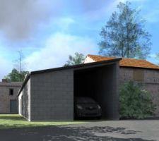 Vue 3D du projet actuel