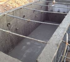 beton fini 3 semaines de sechage maintenant avant de faire les enduits de finitions et le carrelage interieur